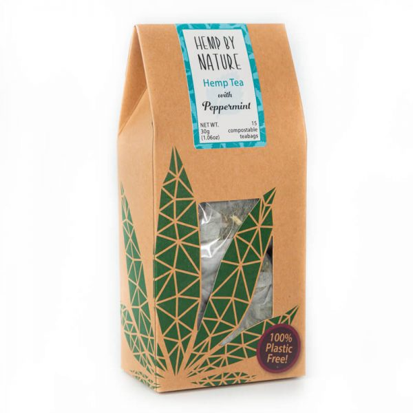 Hemp By Nature Full Spectrum Hemp Tea with Peppermint (15 Compostable Teepees) 30g